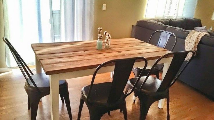 DIY Dining Table Makeover Great Tutorial To Create A Like The