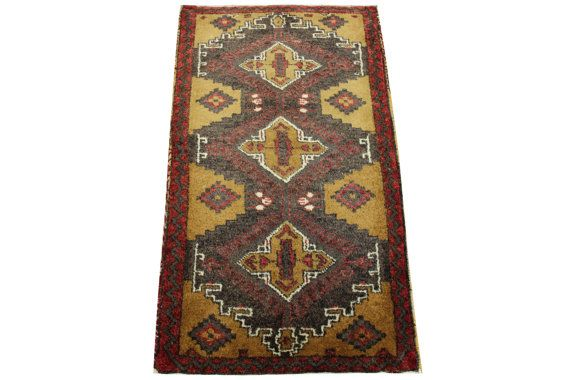 Vintage Carpet Rug 34 x 20 feet Small Turkish by kilimwarehouse