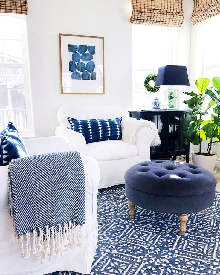 How To Make Your Home Cozy 10 Easy Tips Jane At Home Blue And White Living Room Blue Living Room Living Room Designs