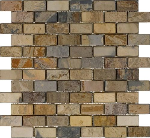Fancy accent size Epoch Tile Fall Tumbled Slate Mosaic Floor or Wall Tile x