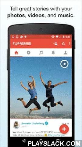 Flipagram  Android App - playslack.com ,  Flipagram is de makkelijkste manier om geweldige video-diavoorstellingen en verhalen van jouw foto's, video's en muziek te maken en delen (video's momenteel alleen ondersteund op de meeste Android 5 Lollipop apparaten). Met tientallen miljoenen maandelijkse gebruikers wereldwijd en nog steeds groeiend, is Flipagram de meest favoriete manier ter wereld om een geweldig verhaal te vertellen.Deel je verhalen privé, of binnen en buiten de…