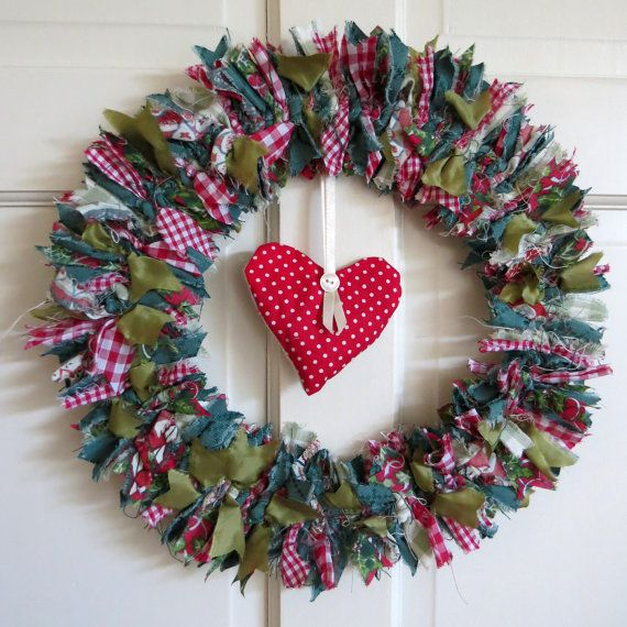 Best images about rag wreaths on pinterest felt