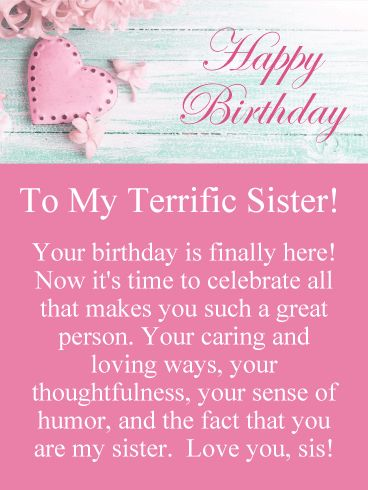 178 best birthday cards for sister images on pinterest to such a great sister happy birthday card pastel shades of pink and blue make for a lovely birthday card that your sister will really like bookmarktalkfo Images