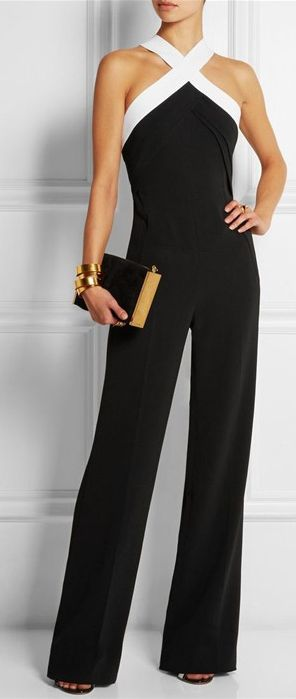 This long jumpsuit with halter and sleeveless design and sleeveless,which show your charming figure.And brief Slim do also show your slim and you can wear it to your party or take part in a meeting,it's the most suitable,which do make you look elegant and beautiful.