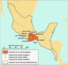 Resultado de imagen para localizacion geografica de la cultura zapoteca