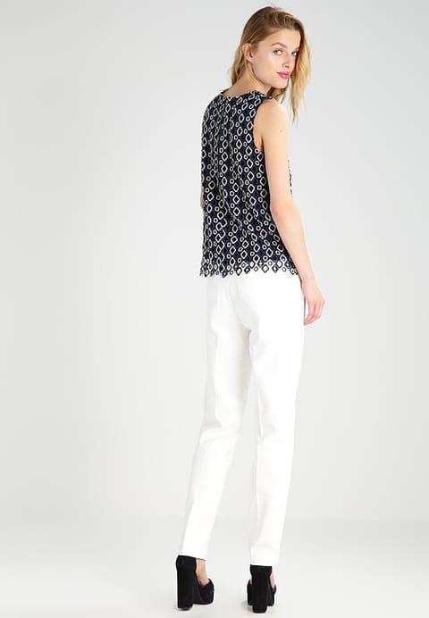 More & More Spodnie materiałowe - offwhite - Zalando.pl