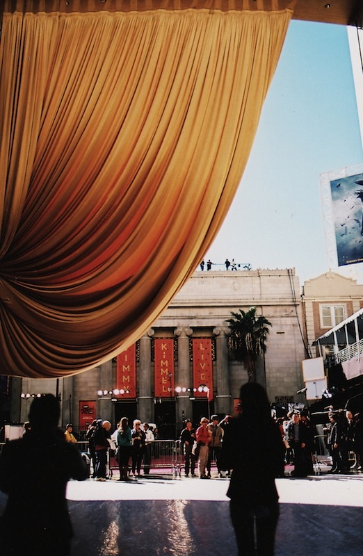 curtains looking out of the Dolby Theatre - Hollywood, CA