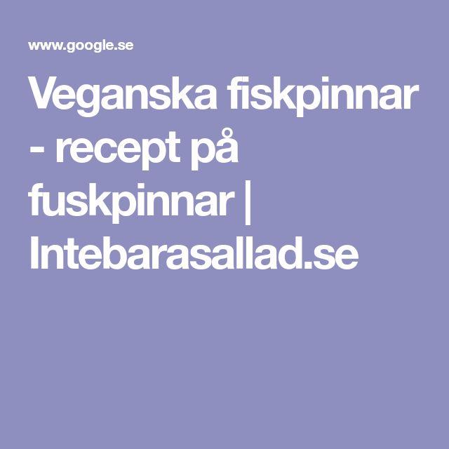 Veganska fiskpinnar - recept på fuskpinnar | Intebarasallad.se