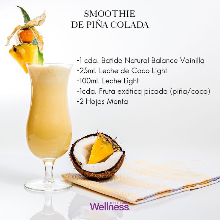 Un aire de verano en #invierno… Sí, prueba el #smoothie de Piña Colada: Deposita todos los ingredientes en una licuadora y licúalos. Después sirve y decora con fruta picada para darle un toque de frescura.