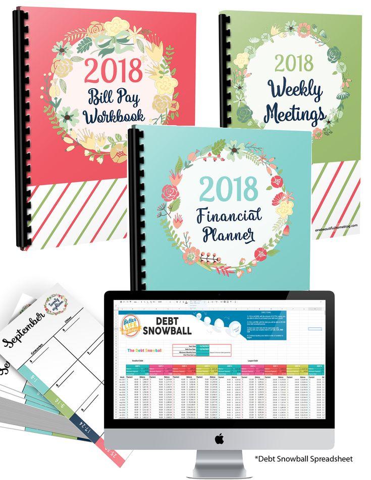 2018 Financial Planner Bundle Financial Peace University Financial Planner Debt Snowball