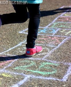 Outdoor games just got a lot more fun with this Rainbow Hopscotch Activity! It even doubles as one of the coolest math activities out there. | AllFreeKidsCrafts.com