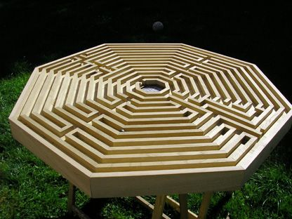 le labyrinthe - Wood Labyrinth Home Basement Backyard Kid Child DIY Idea Vintage Antique Table Top Game