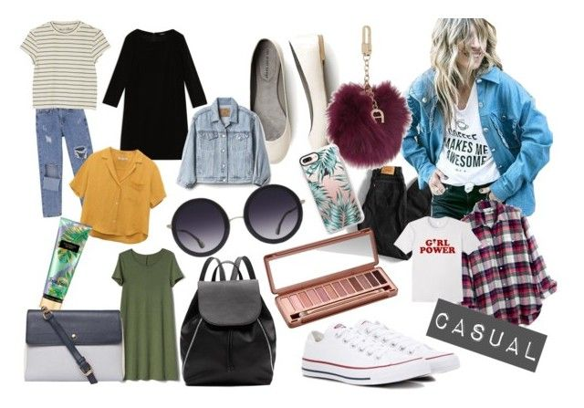 casual look by karimo-rimo on Polyvore featuring Max&Co., Gap, Madewell, Monki, Levi's, Converse, Witchery, Dorothy Perkins, Etienne Aigner and Alice + Olivia