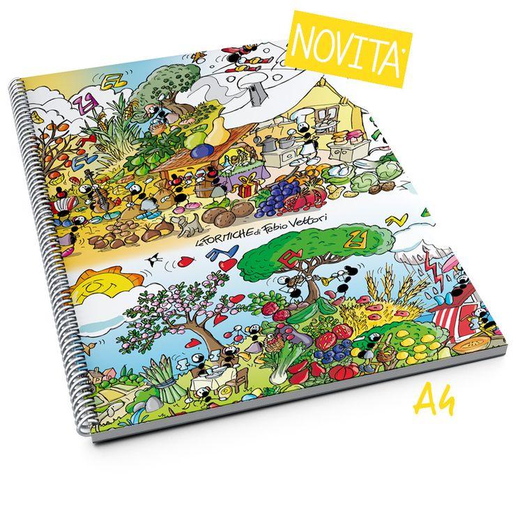 """Block notes """"4 stagioni""""   Le Formiche di Fabio Vettori#formiche #blocknotes #scuola #notes #regalo #4stagioni"""