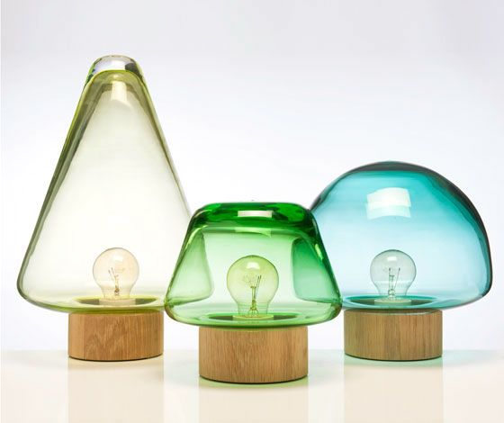 'Skog' lamps by Caroline Olsson for Magnor Glassverk