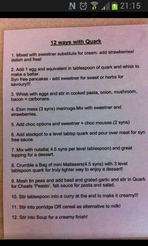 12 ways with quark