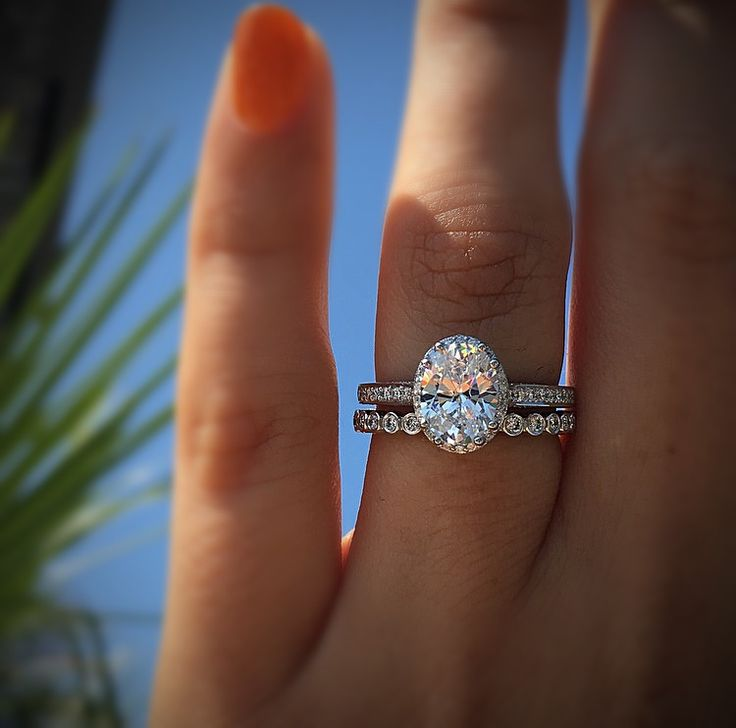 oval halo engagement ring perfection. Tacori engagement rings in white gold.