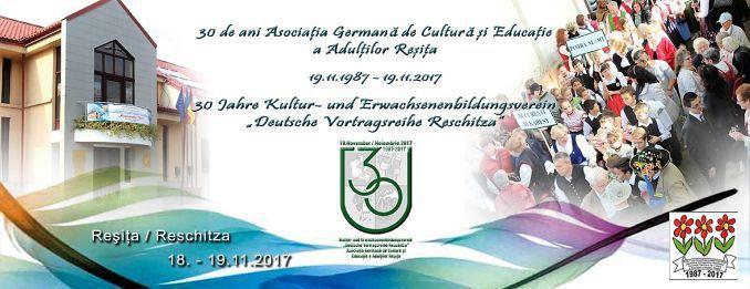 Sâmbătă, 18 noiembrie și duminică, 19 noiembrie, se aniversează 30 de ani de la constituirea primului nucleu al Asociației Germane de Cultură și Educație a Adulților din Reșița. Pentru a marca even…