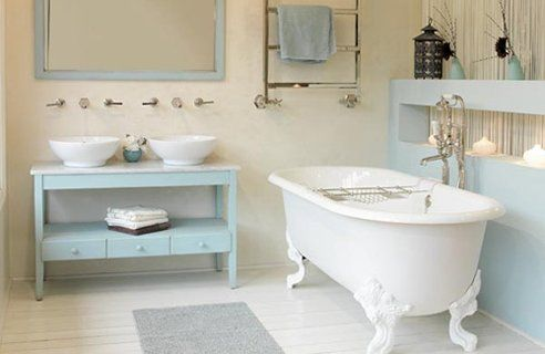 country bathroom decorating ideas - Bing ImagesBathroom Design, Decor Ideas, Country Bathroom, Bathroom Storage, Pastel Bathroom, Bathroom Ideas, Ducks Eggs Blue, Bathroom Decor, White Wall