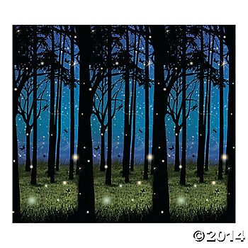 $16 - Enchanted Forest Scene  - This scene setter makes the perfect backdrop for your party, event or play. Transform any room into an enchanted forest. 30 ft. x 4 ft