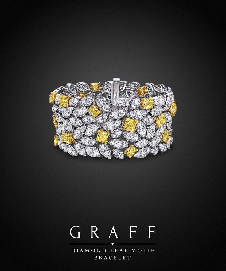 Graff Diamonds: Diamond Leaf Motif Bracelet