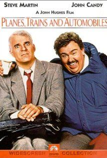 Steve Martin is struggling to get home for Thanksgiving in the movie Planes, Trains & Automobiles when he encounters shower ring salesman John Candy.