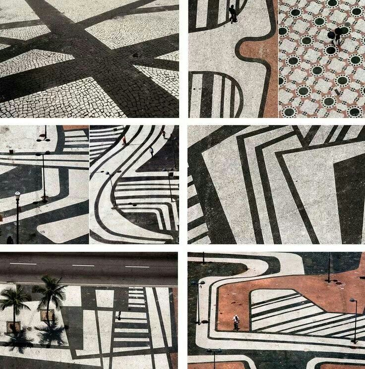 Paving patterns by Brazilian modernist Roberto Burle Max
