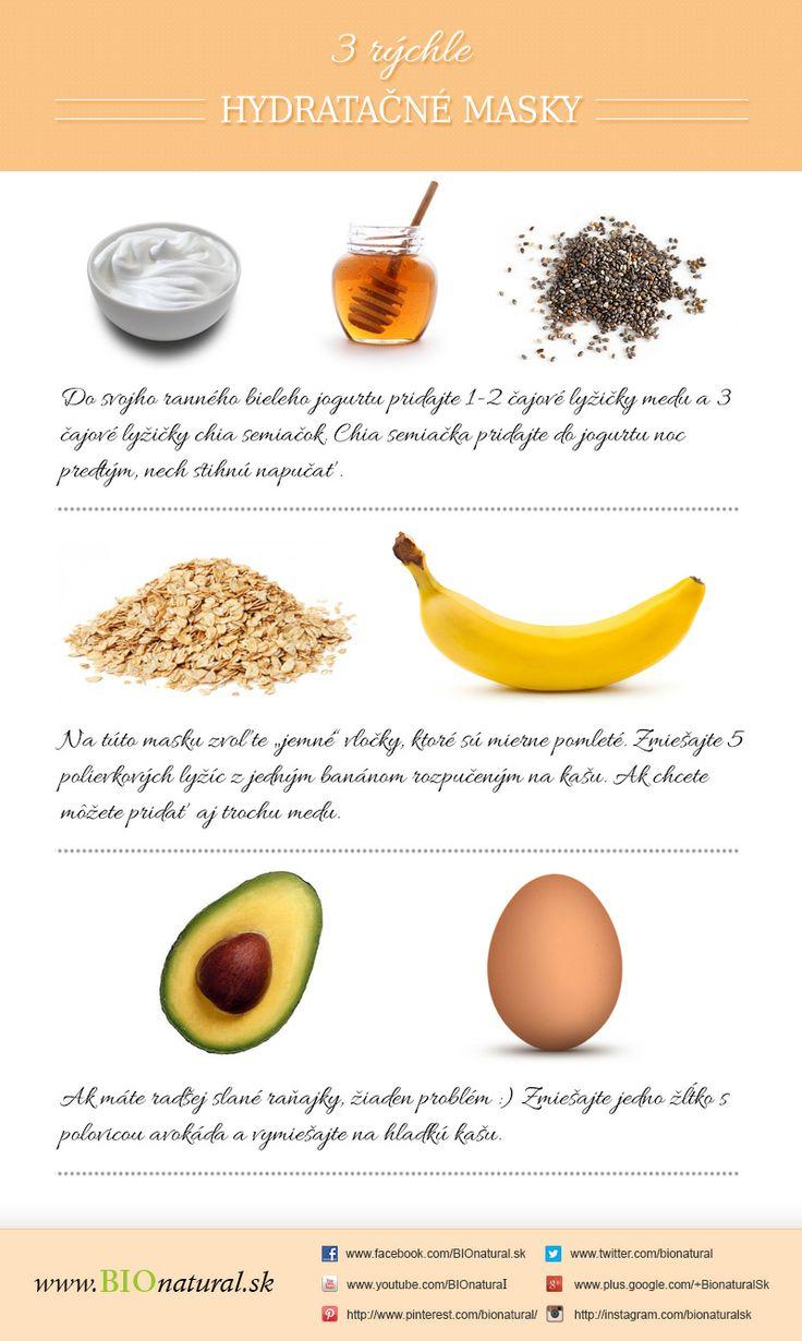 Na tvári máš raňajky! Alebo rýchle hydratačné masky http://www.bionatural.sk/blog/na-tvari-mas-ranajky-alebo-rychle-hydratacne-masky-infografika/