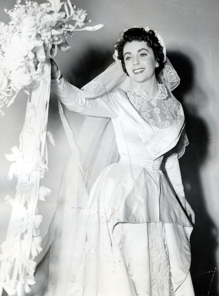 14 best images about my mother 39 s wedding dress on for Elizabeth taylor s wedding dresses