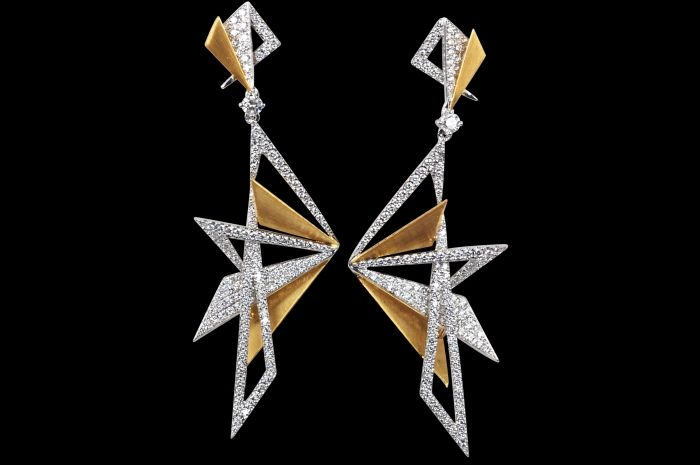 Origami Earrings by KAVANT & SHARART