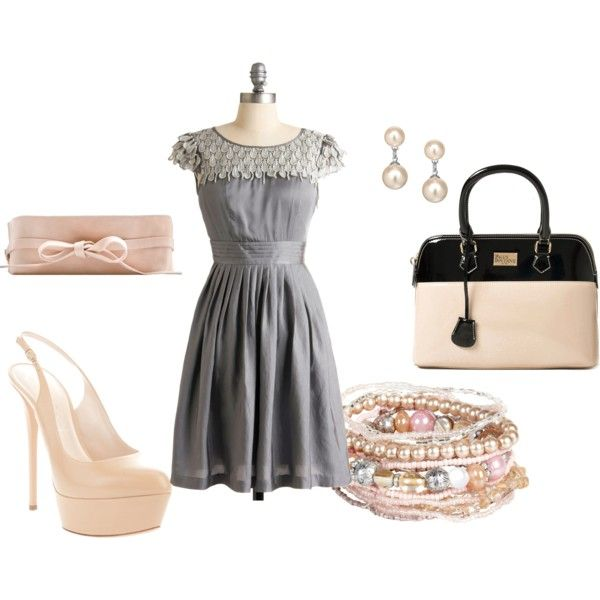 """""""Grey Night Out"""" created by #jessica-mcbride, #polyvore"""