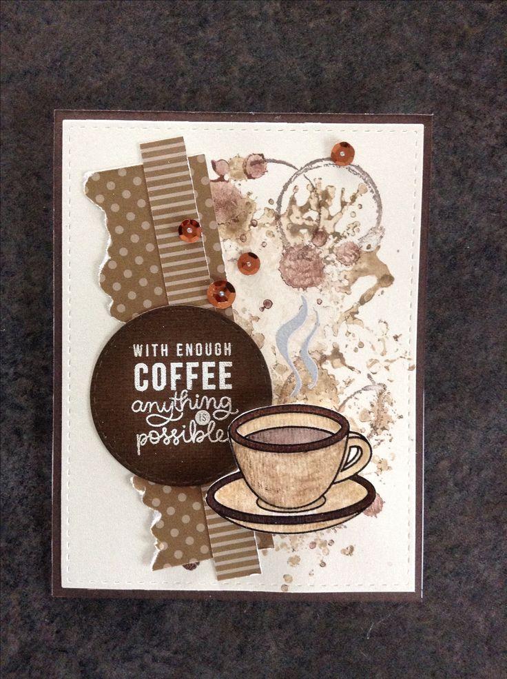Как сделать открытку кофе