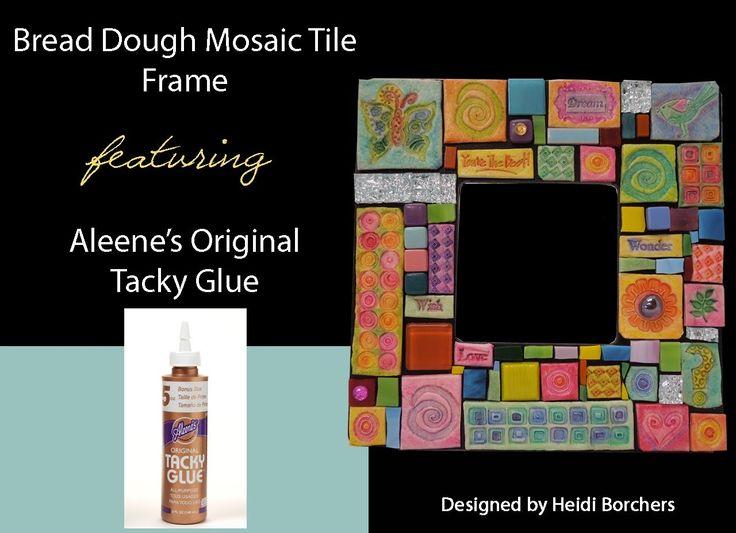Aleene's Bread and Glue Mosaic Tiled Frame by EcoHeidi Borchers