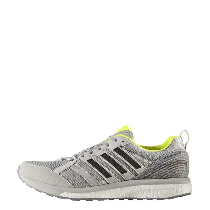 Adidas Men's Adizero Tempo 9 - Grey Two/Core Black/Solar Yellow (BA8237