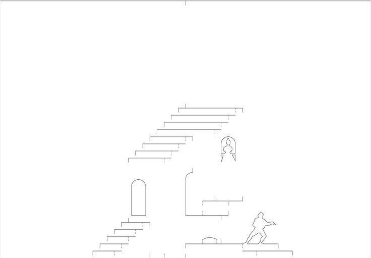 Открытка ступеньками шаблон