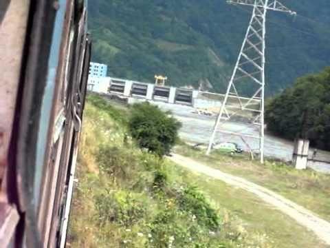 Valea Oltului din tren