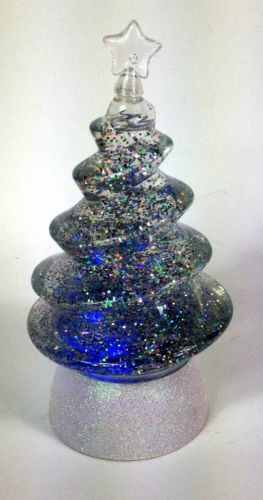Led sparkle color changing glass christmas tree glitter for Where can i buy a red christmas tree