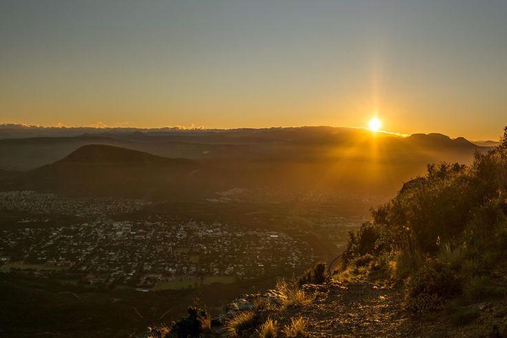 Sunrise over Graff-Reinet