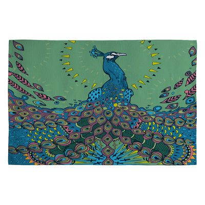 Kind of a funky take on the peacock.  DENY Designs Geronimo Studio Peacock 1 Novelty Rug