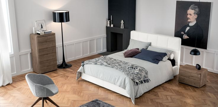 Tria #letto #bed #letto in legno #letto imbottito #wooden bed #padded bed