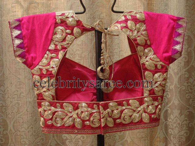 Gold Work Latest Blouse Designs