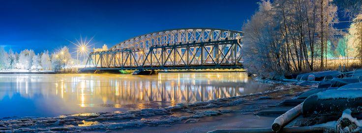 Iron Bridge in Oulu, Finland