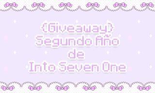 I n t o   S e v e n    O n e ♥ ~: {Giveaway} 2 años del blog