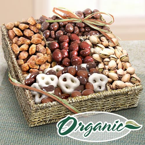 Mendocino Organic Chocolate and Nuts Gift Basket $47.95