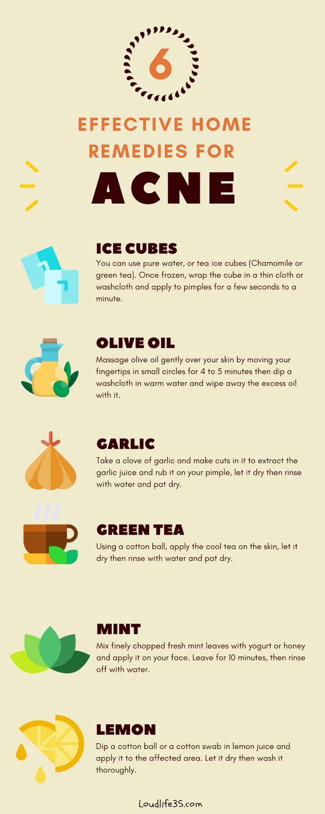 6 Effective Home Remedies For Acne You Need To Try Loud Life Acne Remedies Home Remedies For Acne How To Treat Acne
