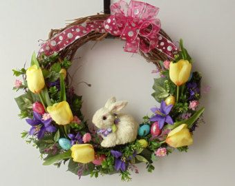 spring door wreath ideas - Google Search