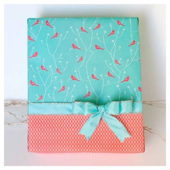 Older And Wisor - an awesome gift wrapping blog: Gift Wrapping, Wrapping Papers, Two Toned Gift, Gift Ideas, Wrapping Gifts, Wrapping Presents, Wrapping Ideas, Wraps
