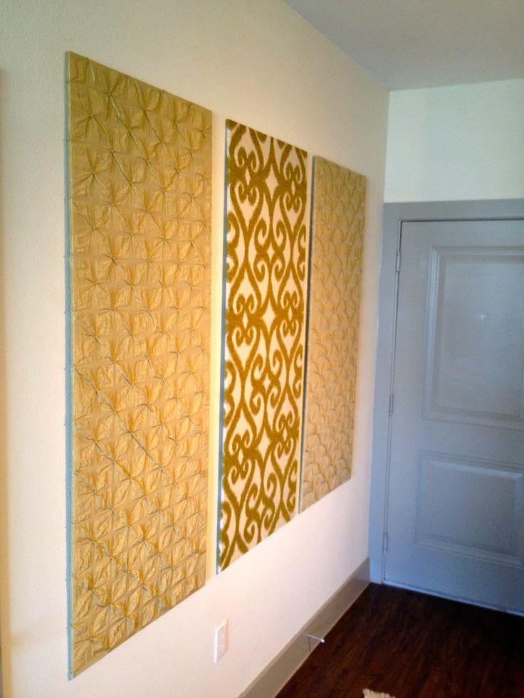diy upholstered wall panels for an entry hallway home. Black Bedroom Furniture Sets. Home Design Ideas