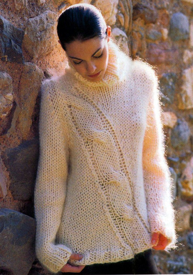 17 Best Images About Mohair Cable Sweaters On Pinterest