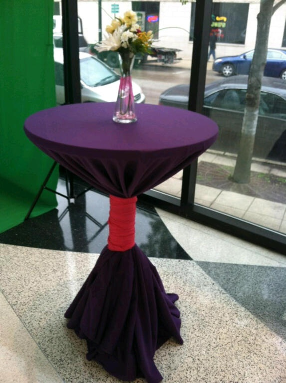 Highboy Table Design for DreamGirls Chicago VIP Reception